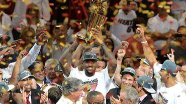 Miami et lebron James sacré champion NBA