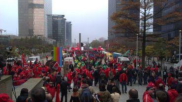 Les manifestants arrivent à la gare du Nord.