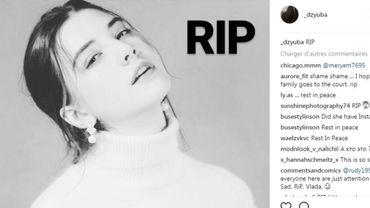 Les hommages à la jeune mannequin décédée ont afflué sur Instagram.