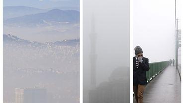 Sarajevo, Pristina et Belgrade sous un dantesque nuage de pollution, en cette mi-janvier.