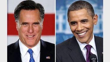 Montage de deux photos des futurs candidats à la présidentielle américaine, à gauche le Républicain Mitt Romney, à droite, le sortant démocrate Barack Romney