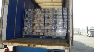 Ostende: la Douane saisit 96 palettes de bière