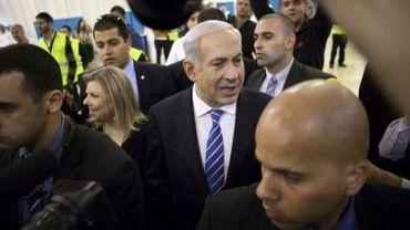 Le Premier ministre israélien Benyamin Netanyahu, le 31 janvier 2012 à Jérusalem pour les primaires du Likoud
