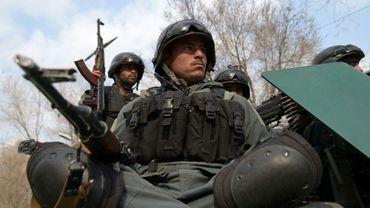 Policiers afghans à Kaboul le 8 mars 2017