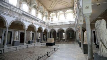 Vue intérieure du musée du Bardo, à Tunis