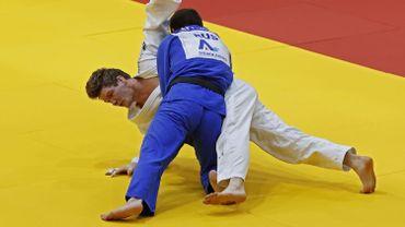 Matthias Casse s'est incliné face au Néerlandais Frank De Wit lors de son combat pour la médaille de bronze au Grand Chelem de Tel-Aviv.