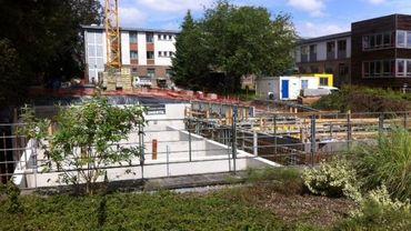 Les fondations de la future résidence services 'les cerisiers' sont presque terminées. Ouverture prévue début 2018.