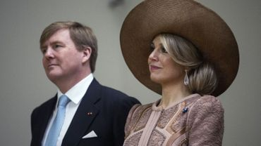 Le roi des Pays-Bas Willem-Alexander aux côtés de son épouse Maxima.
