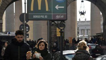 Un restaurant McDonald's à deux pas du Vatican, le 3 janvier 2017