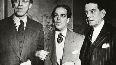 Aaron Copland, Heitor Villa-Lobos et Oscar Correia (Consul Général du Brésil. New York, 1945)