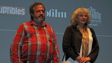 Jaco Van Dormael et Yolande Moreau à Cannes, le 17 mai 2015