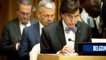 Elio Di rupo assiste aux travaux de l'assemblée générale des Nations-Unies