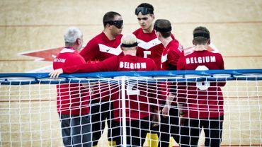 L'équipe belge de goalball à Londres en 2012