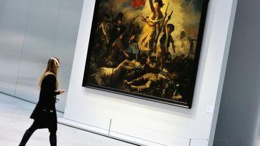 """""""La liberté guidant le peuple"""" d'Eugène Delacroix exposée au musée du Louvre-Lens, le 3 décembre 2012"""