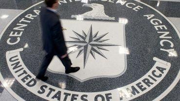 Le logo de la CIA dans le hall de son siège à Langley, le 14 août 2008