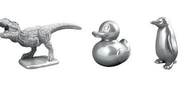 Un T-Rex, un pingouin et un canard en guise de nouveaux pions du Monopoly