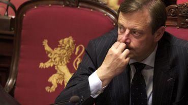 Le leader de la N-VA, Bart de Wever, en séance plénière au Sénat