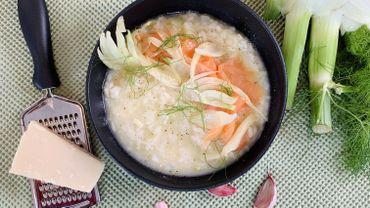Dans votre assiette ce soir: risotto, saumon fumé et fenouil