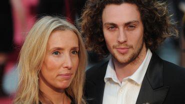 """Sam Taylor-Johnson et son mari, Aaron, rencontré sur le tournage de """"Nowhere Boy"""", lors de la première mondiale d'""""Anna Karénine"""""""