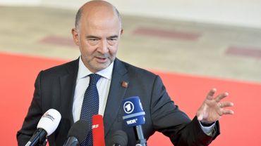 Le commissaire européen à la Fiscalité Pierre Moscovici à son arrivée à Vienne où sont réunis les ministres des Finances de l'UE, le 7 septembre 2018
