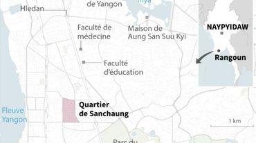 Birmanie : manifestations à Rangoun