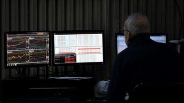 Un tradeur à la bourse de Buenos Aires le 12 août 2019