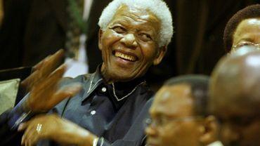 L'ex-président sud-africain Nelson Mandela, le 11 février 2011 au Cap