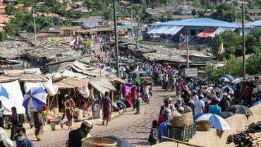 Le camp de réfugiés Rohingyas de Kutupalong, au Bangladesh, près de la frontière avec le Myanmar (Birmanie), l'un des principaux pays de départ en 2019.