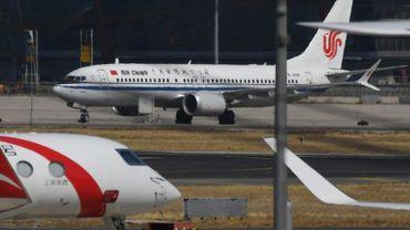 Un Boeing 737 Max 8 d'Air China le 11 mars 2019 à Pékin après la décision de clouer au sol les appareils de ce type