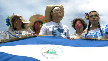 """Des opposants au président Daniel Ortega participent à la marche """"Masaya fleurira"""", le 21 juillet 2018 à Managua, au Nicaragua"""