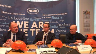 En présence du ministre wallon de l'Economie Willy Borsus, Grigory Fedorishin, président du Groupe NLMK, a annoncé d'importants investissements pour NLMK-La Louvière.