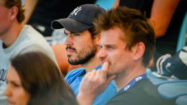 Germain Gigounon et Fabien Bertrand, le coach et le préparateur physique de David Goffin