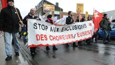 Manifestation contre l'exclusion des chômeurs le 22 février 2015.