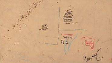 """""""Free Comb With Pagoda"""" de Jean-Michel Basquiat est vendu sous la forme d'un NFT sur la plateforme OpenSea."""