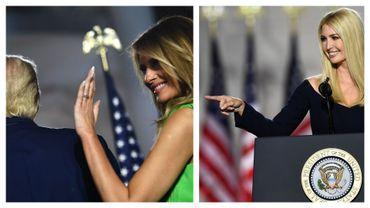 Donald, Melania et Ivanka Trump à la convention républicaine, fin août 2020
