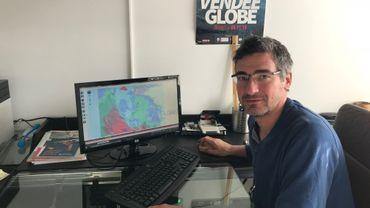 Michael Delatte, en stand by, pour apporter une éventuelle assistance informatique aux clients