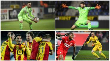 Hendrik Van Crombrugge, Thomas Didillon, Igor De Camargo, et le duo Samuel Bastien/Arnaud Bodart, les tops de la saison d'Anderlecht, de Genk, de Malines et du Standard
