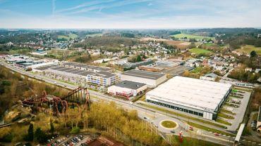 Voici à quoi ressemblera le Parc de l'Europe, face au Walibi: quelques commerces, des PME et des bureaux, à la place d'un chancre industriel.