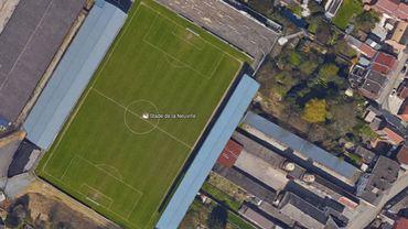 Vue aérienne du stade de la Neuville