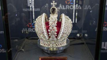 Une réplique de la couronne impériale russe scintille en Israël