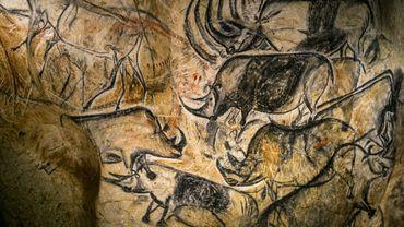 Un détail de la reproduction de la grotte