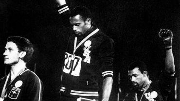 Tommie Smith et John Carlos, en 1968.