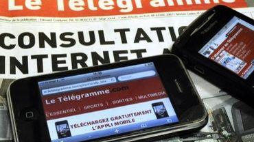 Le site du Télégramme sur un smartphone, le 3 novembre 2010
