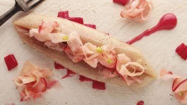 Recette : Croustillant de filet de perche à la rhubarbe