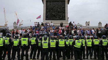 Des affrontements ont éclaté samedi à Londres entre la police et des centaines de manifestants.