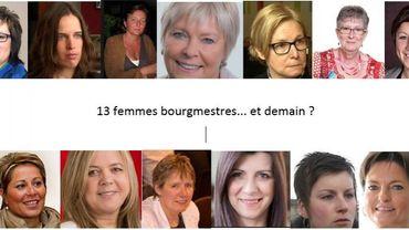 En haut, de gauche à droite : Marion Dhur (Burg-Reuland), Valérie Dejardin (Limbourg), Laura Iker (Esneux), Isabelle Simonis (Flémalle), Christine Servaes (Juprelle), Jeanne Defays (Modave) et Isabelle Albert (Oreye) En bas : Caroline Cassart-Mailleux (Ouffet), Chantal Daniel (Soumagne), Cilou Louviaux (Tinlot), Muriel Targnion (Verviers), Aline Devillers-Saal (Villers-le-Bouillet) et Virginie Lefrang-Firket (Neupré)