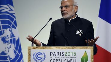 """COP21: """"La justice climatique a gagné"""", selon le Premier ministre indien"""