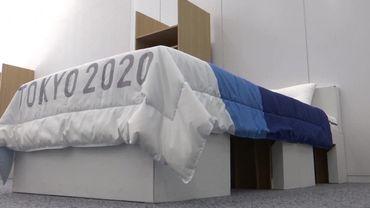 Lit en cartons recyclés JO Tokyo 2020