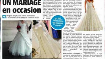 La revue de presse : Achèteriez-vous votre robe de mariée en seconde main ?