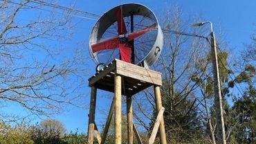 Un des deux ventilateurs installés dans le vignoble Septem Triones